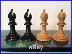 ANTIQUE JAQUES CHESS SET Weighted With 85 Mm Kings Circa 1865 All Original
