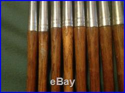 ANTIQUE MACGREGOR DURALITE IRON SET WOOD SHAFTS MATCHED 8 irons ALL ORIGINAL