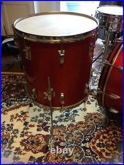 All Original 1965 Ludwig Red Sparkle Vintage Drum set, Original Zildjian w Stand