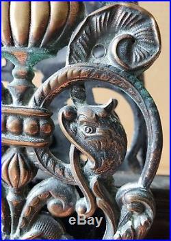 All Original Bronze Victorian Entry Door Set With Dolphins The Best