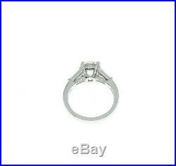 All Original DeBeers 4.20 Carats t. W. GIA F VS2 Diamond Platinum Wedding Set