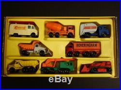All Original MATCHBOX G-6 Commercial Truck Gift Set Regular Wheels Mint + Box