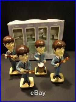 All Original The Beatles Bobbin Head Set Car Mascots Inc 1964 Japan Mint + Box