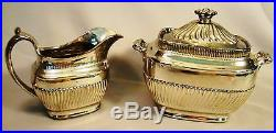 All Over Silver Lustre Tea & Coffee Set early 19th c Neo-Classical Shape
