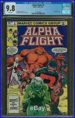 Alpha Flight #1-8 all CGC 9.8 set 1,2,3,4,5,6,7,8 1st Puck and Marrina, origin