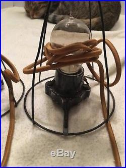 Antique Boudoir Half Doll Light Lamps set of 2 -all Original Parts 1920's