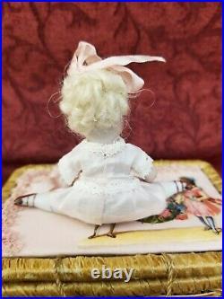 Antique German Trousseau Set Includes 2 All Bisque Dolls Mold 661 & 205 Kestner