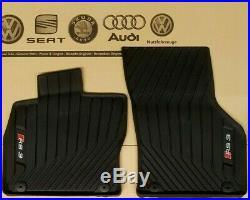 Audi A3 8V RS3 original Fußmatten Gummimatten vorne Gummifußmatten rubber mats
