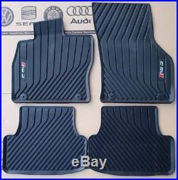 Audi A3 8V original RS3 Fußmatten Gummimatten vorne + hinten rubber mats