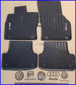 Audi A3 8V original RS3 Fußmatten Gummimatten vorne hinten rubber mats mit Logo