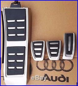 Audi A4 B8 original S-Line Pedalset S4 Pedale Pedalkappen Fußstütze A5 S5 Q5 SQ5