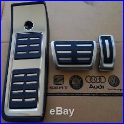 Audi A4 B9 original S4 Pedalset Pedale Pedalkappen RS4 Fußstütze pedal pads caps