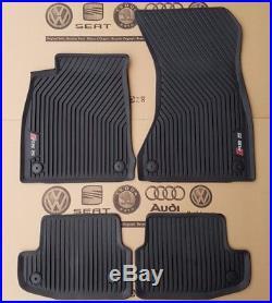Audi A5 8W B9 original RS5 Fußmatten Gummimatten vorne + hinten Gummifußmatten