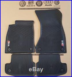 Audi A5 Sportback original S5 Fußmatten Gummimatten vorne hinten Gummifußmatten