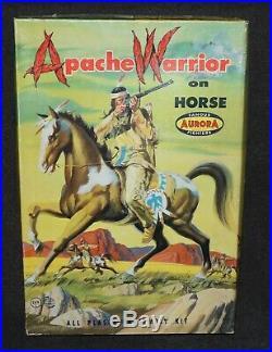 Aurora Model Set 1958 APACHE WARRIOR on Horse Indian ALL Original Complete