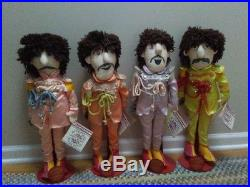 BEATLES SGT. PEPPER DOLLS Set All 4 with tags & stands Applause 1988