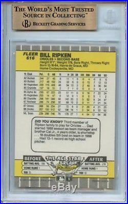 BGS 9.5 1989 Fleer Billy Ripken Error Set Expletive Black Box Scribble All 3 GEM
