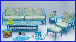 Barbie Go Together BLUE Couch & Chair Set all cushions NC & NM