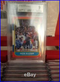 COMPLETE 1986-87 FLEER BASKETBALL SET. ALL BGS 9 GRADED. JORDAN With 9.5 CENTER