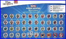 COMPLETE DISNEY INFINITY 2.0 Originals & Marvel Heroes Power Disc Set All 80 New