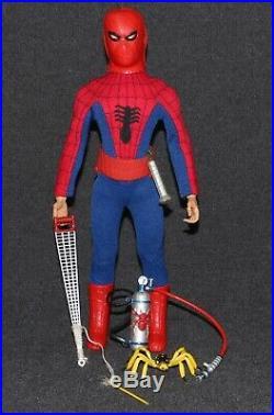 Captain Action Ideal 1967 Set Spider-Man Spiderman ALL ORIGINAL Ccmplete C9++
