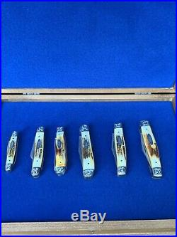 Case XX USA 1979 Stag Bradford Centennial Scrolled Set / Lot All Numberer 362