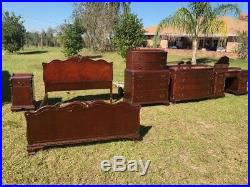 Chippendale Style Bedroom Set Lots Of Carvings All Original Must C