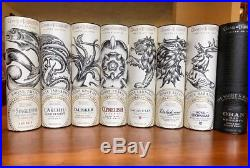 Complete Game Of Thrones Scotch Set 1-8 All Houses And Nights Watch Rare Limited