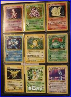 Complete Original Base Set Pokemon Cards All 102 Cards 54 Shadowless