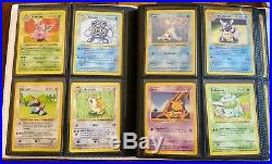 Complete Pokemon SHADOWLESS Non-Holo Base Set 17-102 Originals All LP+ to NM