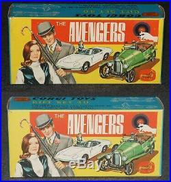 Corgi #40 AVENGERS Boxed 1966 All Original James Bond Era Gift Set Nice
