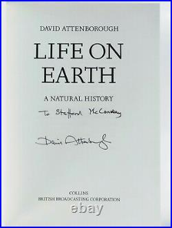 David Attenborough Life on Earth Set of 9 Books First Editions All Signed