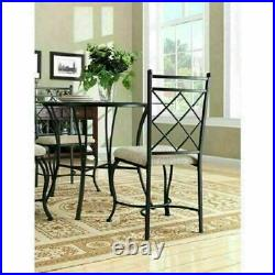 Dining Room Set Table Chairs 5 Pc Kitchen Space Saving Dinette Round Glass Top
