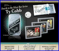 Elemetal Ty Cobb (SET of ALL 3 Versions) T-206 One Troy Ounce. 999 Silver Bars