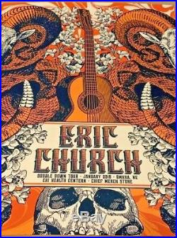 Eric Church Omaha NE 2019 AP Poster Print Set of ALL 3 Justin Helton S/N #/50