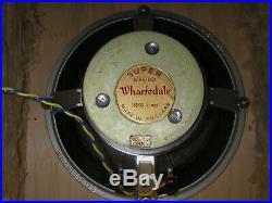 FOR SALE ALL ORIGINAL SET WHARFEDALE 60ies VINTAGE HIFI SPEAKERS (OPEN BAFFLES)
