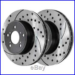 Front Rear Drilled Slotted Rotors Ceramic Pads for 2007-2012 MDX 2009-2012 Pilot