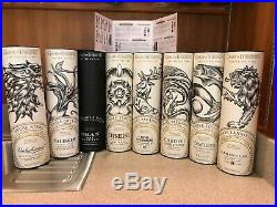 GAME OF THRONES SCOTCH SET - Complete set ALL 8 + PAMPHLET