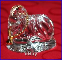GORHAM Crystal- Gold Nativity set-12 pc all in original boxes-perfect condition