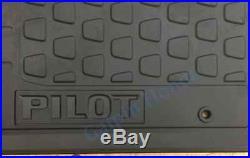 Genuine OEM Honda Pilot All Season Floor Mat Set 2009 2015 (08P13-SZA-110)