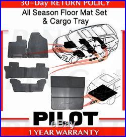 Genuine OEM Honda Pilot All Season Floor Mat Set + Folding Cargo Mat 2016- 2018
