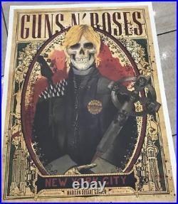 Guns N Roses Msg Nyc Set Of Duff Axl & Slash Posters (all 3) Gangs Of New York