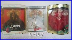 Happy Holidays Barbie Special Edition Collectors Set 1988-1998 All New