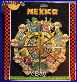 Hard Rock Cafe Mexico All 8 Cafes Aztec Mayan Puzzle 2005 8 Pin Complete Set