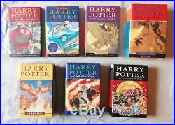 Harry Potter 7x book set ALL FIRST EDITION 1st Ed + Half Blood Page 99 Error 1ed
