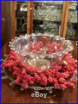 Heisey LARIAT PUNCH BOWL 28 pcS LARGER Set RED Hooks BUY NOW ENJOY ALL YEAR