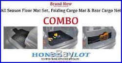 Honda PILOT All Season Floor Mat Set, Cargo Mat & Cargo Net COMBO! 2016- 2018