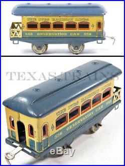 Ives 572X Blue Vagabond O-Ga Pass. Set withTUNNEL BOX Very Rare All Original 1930