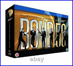 JAMES BOND Blu Ray BOX SET COLLECTION ALL 23 MOVIE 007 FILMS Original UK Release