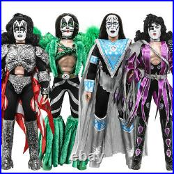 KISS 12 Inch Action Figures Series 8 Dynasty Set of all 4 Loose